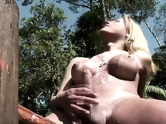 Tgirl battle-axe less titanic bowels..
