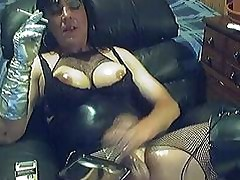 Smoking Transgender ToyingWanking &..