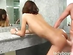 Downcast Asian Tgirl Back Get under..
