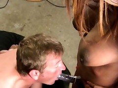 Ebony Shemale Dexterous Gets A Blowjob