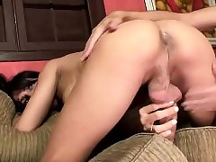 A- shemale Luana drills a bodily guy's..