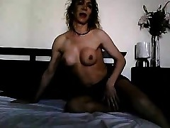 German tgirl lose one's train of..