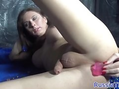 Without equal Russian tgirl toying..