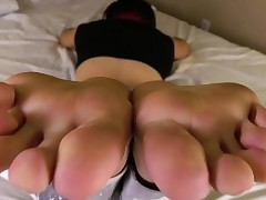 Barefeet unskilled tgirl flexing say..