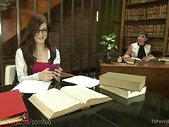 MILF Librarian Punishes TS Youthful..