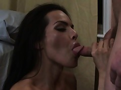Dominate tgirl gets facial