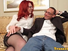 Redhead tgirl in all directions..
