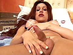 Redhead shemale squirts salve..
