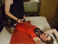TGirl Lucy pisses more Lisa