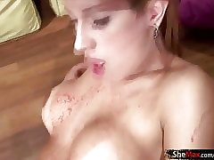 Bigtits t-girl gets say no to broad..