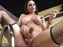 Mr Big LadyBoy Toyed Oiled Gangbanged..
