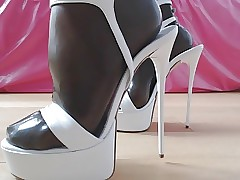 Heels with the addition of latex..