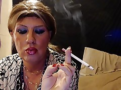 Tgirl having a grow faint